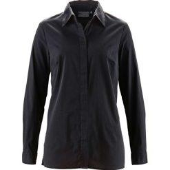 Bluzki damskie: Długa bluzka ze stretchem bonprix czarny