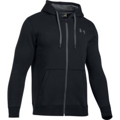 Bejsbolówki męskie: Under Armour Bluza męska Rival Fleece Fitted Full Zip Hoodie czarna r. XL (1302290-001)