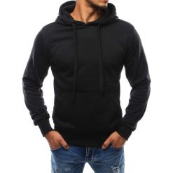 Bluzy męskie: Bluza męska z kapturem czarna (bx2028)