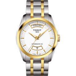 RABAT ZEGAREK TISSOT COUTURIER POWERMATIC 80 PVD T035.407.22.011.01. Białe zegarki męskie marki TISSOT, ze stali. W wyprzedaży za 2635,60 zł.
