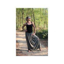 Długa zwiewna spódnica oliwka. Zielone długie spódnice Szarymary, na lato, l, z gumy. Za 119,00 zł.