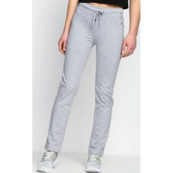 Spodnie damskie: Szare Spodnie Dresowe Baggily
