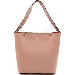 Torebki klasyczne damskie: Skórzana torebka w kolorze pudrowym – (S)34 x (W)28 x (G)13,5 cm