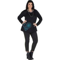 Odzież damska: Koszulka w kolorze czarno-turkusowym