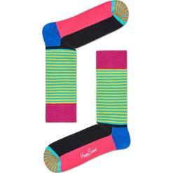 Happy Socks - Skarpety Half Stripe. Zielone skarpetki męskie marki Happy Socks. W wyprzedaży za 29,90 zł.