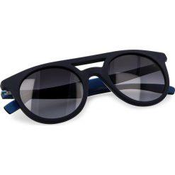 Okulary przeciwsłoneczne BOSS - 0266/S Blue Hvnblue I8V. Niebieskie okulary przeciwsłoneczne damskie lenonki marki Boss. W wyprzedaży za 379,00 zł.