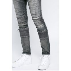 Review - Jeansy. Szare jeansy męskie skinny Review, z bawełny. W wyprzedaży za 159,90 zł.