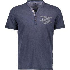 """T-shirty męskie z nadrukiem: Koszulka """"Henley"""" w kolorze granatowym"""