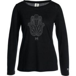 Bluzki asymetryczne: super.natural GRAPHIC Bluzka z długim rękawem jet black/fatima hand