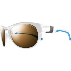 """Okulary przeciwsłoneczne męskie: Okulary przeciwsłoneczne """"Shore"""" w kolorze biało-brązowym"""