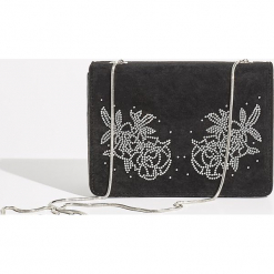 Torebka na ramię z aplikacją - Czarny. Czarne torebki klasyczne damskie Sinsay, z aplikacjami, z aplikacjami. Za 49,99 zł.