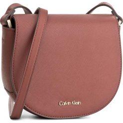 Torebka CALVIN KLEIN BLACK LABEL - Marissa Saddle Bag K60K603650 227. Czarne listonoszki damskie marki Calvin Klein Black Label, z materiału. W wyprzedaży za 279,00 zł.