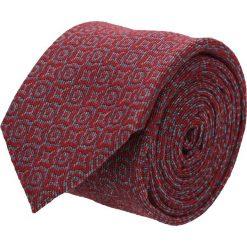 Krawat cotton czerwony classic 202. Czerwone krawaty męskie Recman, z aplikacjami, z bawełny, eleganckie. Za 59,00 zł.