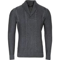Sweter PAOLO WP 15-78CS. Czarne swetry klasyczne męskie marki Giacomo Conti, m, z bawełny, z klasycznym kołnierzykiem. Za 229,00 zł.