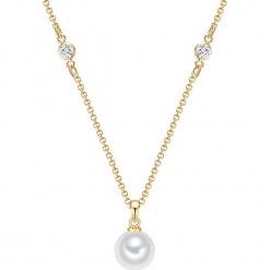 Naszyjnik z perłami - dł. 42 cm. Żółte naszyjniki damskie marki METROPOLITAN, pozłacane. W wyprzedaży za 58,95 zł.