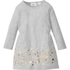 Sukienki dziewczęce: Sukienka dżersejowa bonprix naturalny melanż – złoty z nadrukiem