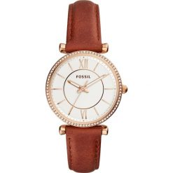 Zegarek FOSSIL - Carlie ES4428  Brown/Gold. Brązowe zegarki damskie Fossil, ze stali. Za 569,00 zł.