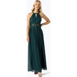 Marie Lund - Damska sukienka wieczorowa, niebieski. Niebieskie sukienki balowe Marie Lund, w koronkowe wzory, z koronki. Za 699,95 zł.