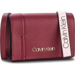 Torebka CALVIN KLEIN - City Leather Sml Fla K60K604481 628. Czerwone torebki klasyczne damskie Calvin Klein, ze skóry. Za 599,00 zł.