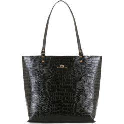 Torebka damska 15-4-323-1. Czarne torebki klasyczne damskie marki Wittchen, z motywem zwierzęcym. Za 489,00 zł.