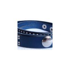 Bransoletka Blue Leather. Brązowe bransoletki damskie na nogę Moderntime, ze stali. Za 39,90 zł.