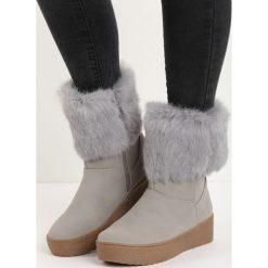 Szare Śniegowce Getting On. Szare buty zimowe damskie Born2be. Za 99,99 zł.