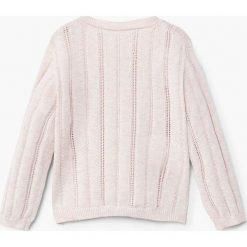 Mango Kids - Sweter dziecięcy Cake2 80-104 cm. Szare swetry dziewczęce marki Mango Kids, z bawełny. W wyprzedaży za 39,90 zł.