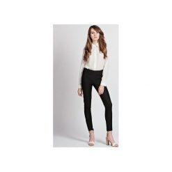 DOPASOWANE SPODNIE, SD101 JEANS. Czarne jeansy damskie z wysokim stanem Lanti. Za 130,00 zł.