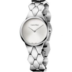 ZEGAREK CALVIN KLEIN LADY SNAKE K6E23146. Szare zegarki damskie marki Calvin Klein, szklane. Za 1189,00 zł.
