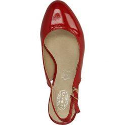 CZÓŁENKA CASU AH86093. Brązowe buty ślubne damskie Casu, na koturnie. Za 64,99 zł.