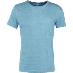 T-shirty męskie: 120% Lino UOMO GIROCOL Tshirt basic jade gricon