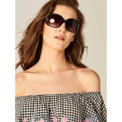 Okulary przeciwsłoneczne damskie aviatory: Okulary przeciwsłoneczne – Czarny