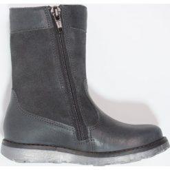 Superfit EMMA Kozaki charcoal. Szare buty zimowe damskie marki Superfit, z materiału, na wysokim obcasie. W wyprzedaży za 272,35 zł.