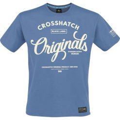 T-shirty męskie z nadrukiem: Crosshatch Elond T-Shirt niebieski