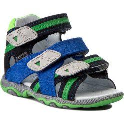 Sandały męskie skórzane: Sandały BARTEK – 11708-26 Niebieski