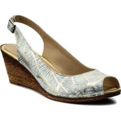 Rzymianki damskie: Sandały LANQIER – 40C411 Srebrny 1