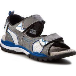 Sandały GEOX - J Borealis B.D J720RD 01014 C0244 D Szary/Niebieski. Szare sandały męskie skórzane Geox. W wyprzedaży za 219,00 zł.