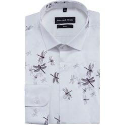 Koszula SIMONE slim KDWS000422. Szare koszule męskie na spinki Giacomo Conti, l, z bawełny, z klasycznym kołnierzykiem, z długim rękawem. Za 199,00 zł.
