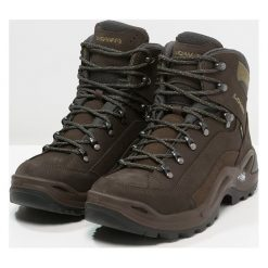 Lowa RENEGADE GTX MID Buty trekkingowe schiefer/oliv. Brązowe buty trekkingowe męskie Lowa, z gumy, outdoorowe. Za 809,00 zł.