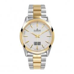 """Zegarek """"4460474"""" w kolorze srebrno-złotym. Szare, analogowe zegarki męskie Dugena & Nautec No Limit, ze stali. W wyprzedaży za 449,95 zł."""