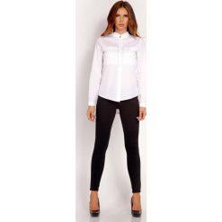 Biała Koszula z Niską Stójką. Białe koszule damskie Molly.pl, l, biznesowe, ze stójką, z długim rękawem. Za 99,00 zł.