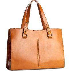 Torebka CREOLE - RBI10146 Koniak. Brązowe torebki klasyczne damskie Creole, ze skóry, duże. Za 339,00 zł.