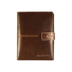 Portfele męskie: Skórzany portfel w kolorze brązowym – (S)14 x (W)11 cm