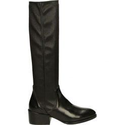 Kozaki - W185B244 N NE. Czarne buty zimowe damskie Venezia, ze skóry. Za 999,00 zł.