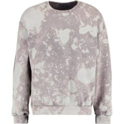 Bejsbolówki męskie: 12 Midnight HEAVY BLEACH WASH SWEAT  Bluza bleach wash charcoal
