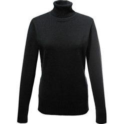 Sweter z golfem bonprix czarny. Niebieskie golfy damskie marki bonprix, z nadrukiem. Za 54,99 zł.