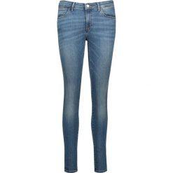 Dżinsy - Skinny fit - w kolorze niebieskim. Szare rurki damskie marki Wrangler, na co dzień, m, z nadrukiem, casualowe, z okrągłym kołnierzem, mini, proste. W wyprzedaży za 173,95 zł.
