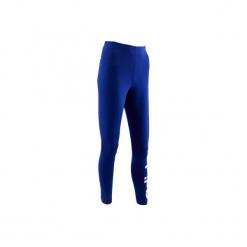 Legginsy slim Gym & Pilates 500 damskie. Niebieskie legginsy sportowe damskie marki Adidas, xl, z bawełny. W wyprzedaży za 69,99 zł.