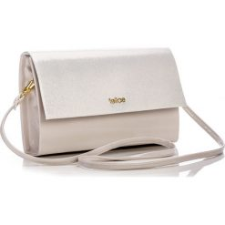 Kremowa damska kopertówka  C CREAM SHINY. Białe kopertówki damskie marki Felice, w paski, małe. Za 59,90 zł.
