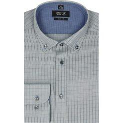 Koszula bexley 2477 długi rękaw slim fit szary. Szare koszule męskie na spinki marki Recman, na lato, l, w kratkę, button down, z krótkim rękawem. Za 89,99 zł.